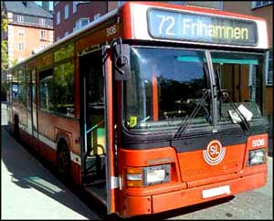 Oberoende bromssystem buss